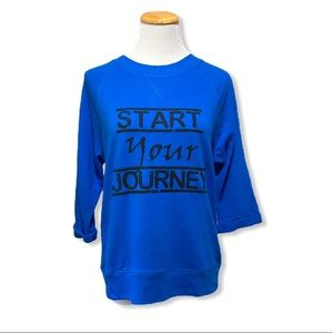 PL Movement Blue Graphic Athlesiure Pullover Top